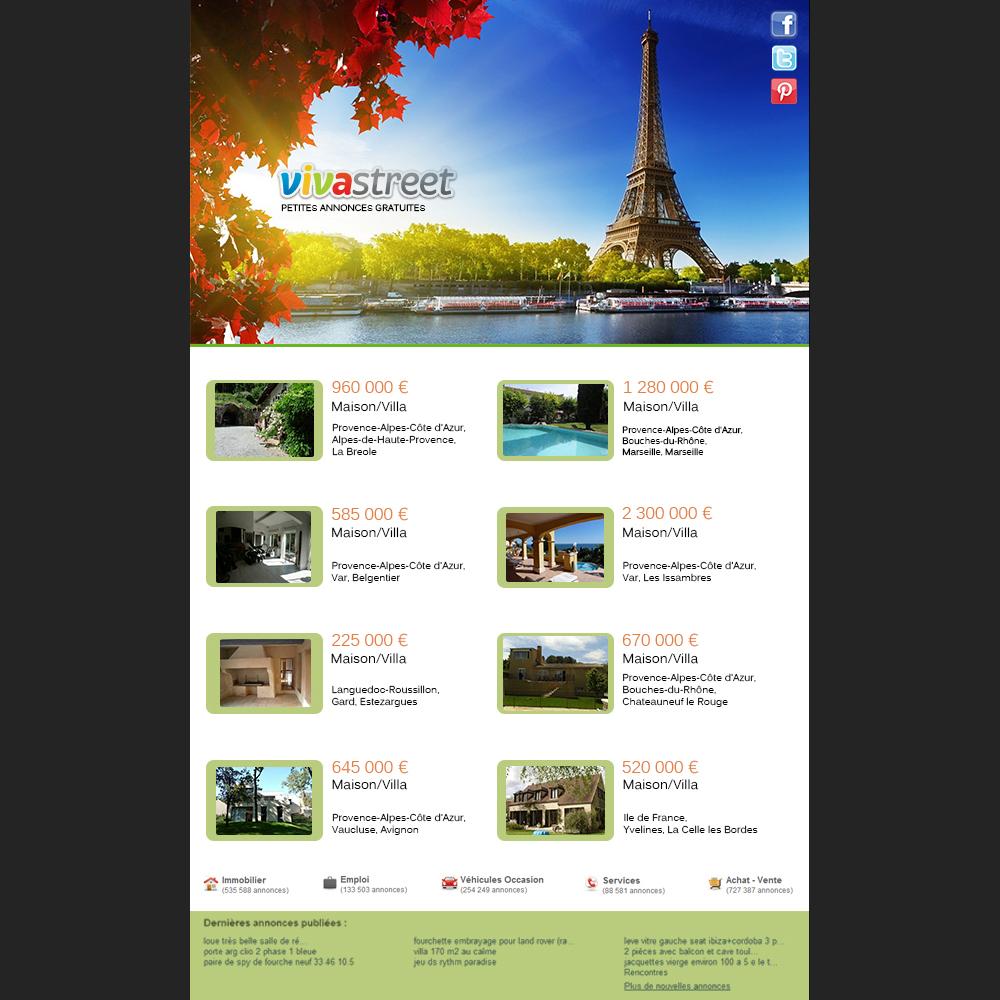 Viva street html email design