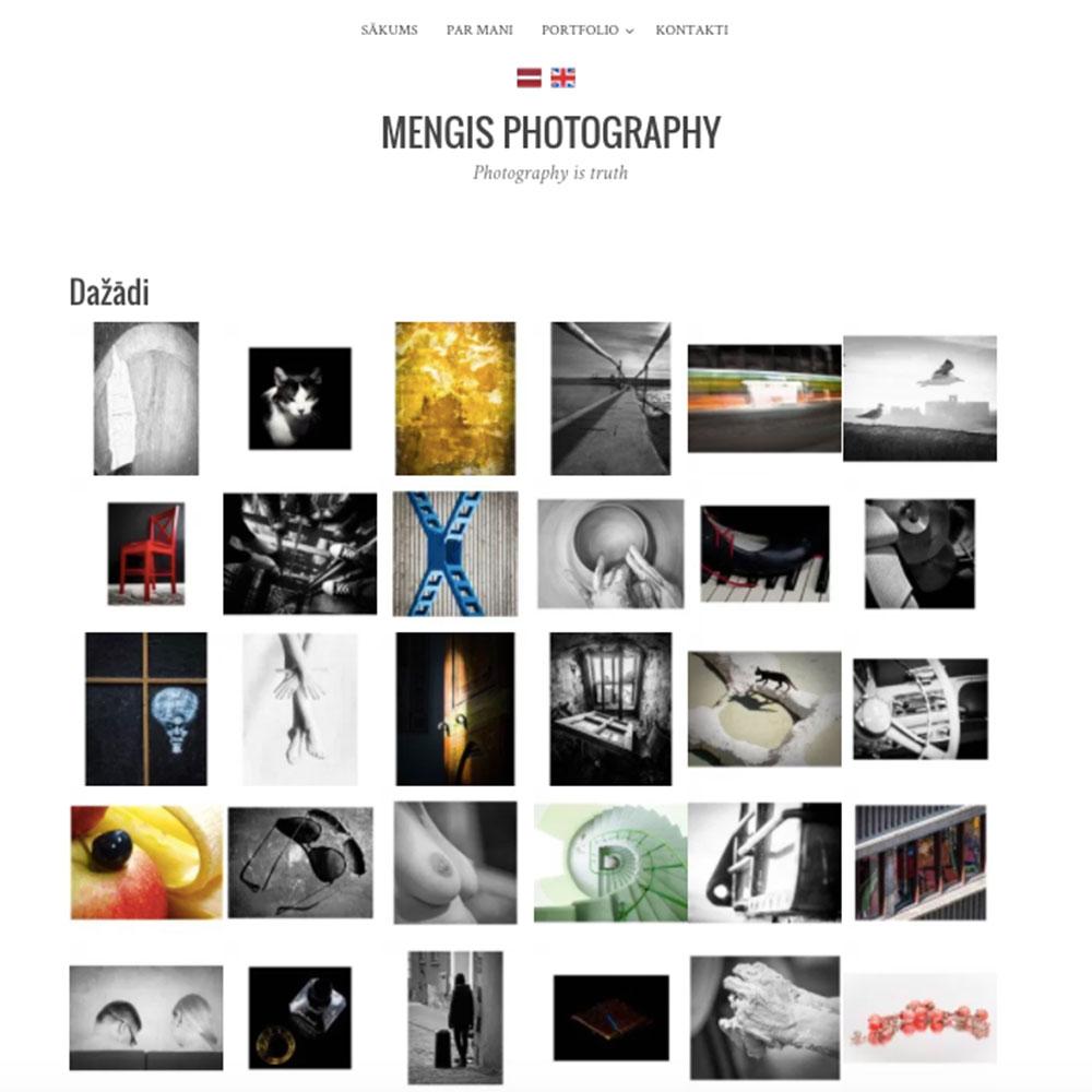 Mengis Photography дизайн и разработка