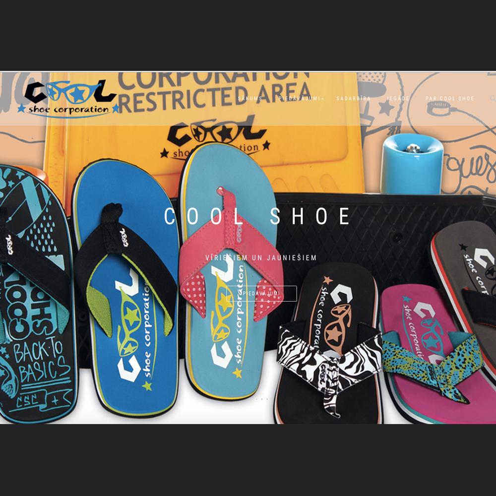 Cool shoe mājas lapas dizains izstrāde