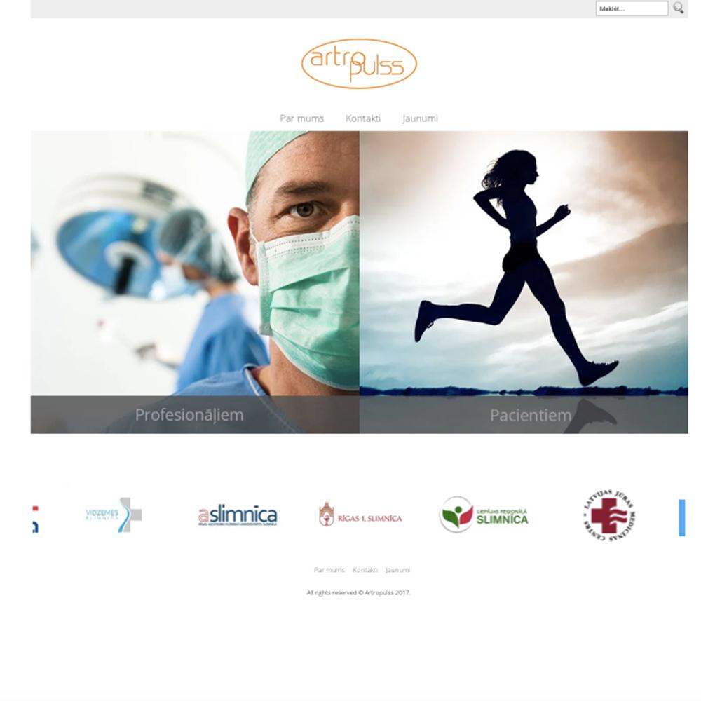 Artro pulss mājas lapas dizains un izstrāde