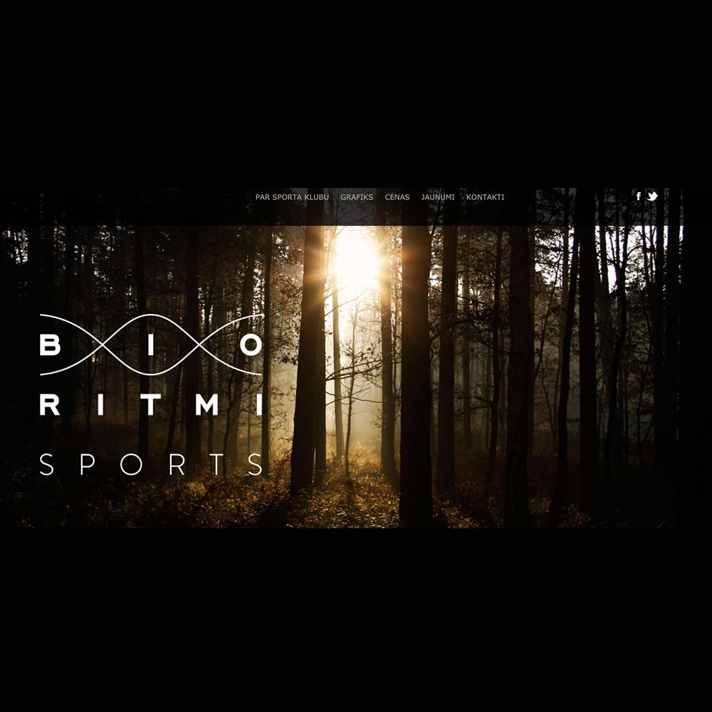 Bio Ritmi sports mājas lapas dizains un izstrāde