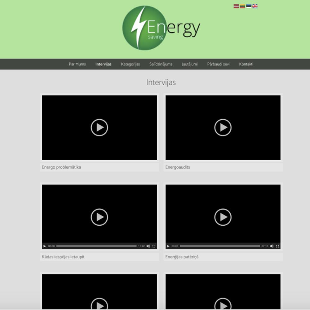 Energy saving mājas lapas dizains un izstrāde