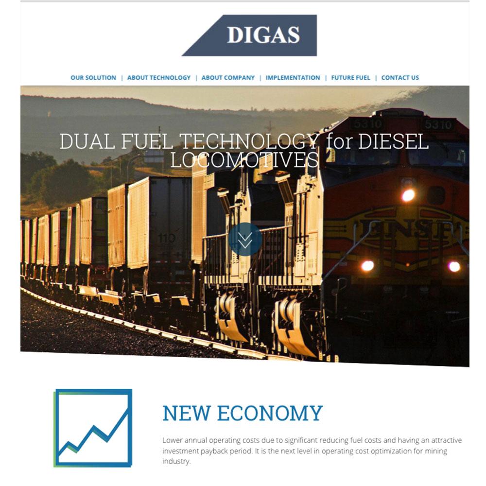 Digas group mājas lapas dizains un izstrāde
